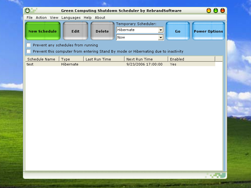 Windows 7 Green Computing Shutdown Scheduler 1.1 full