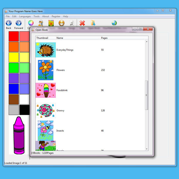 Capture the imagination of children with this fun coloring book software