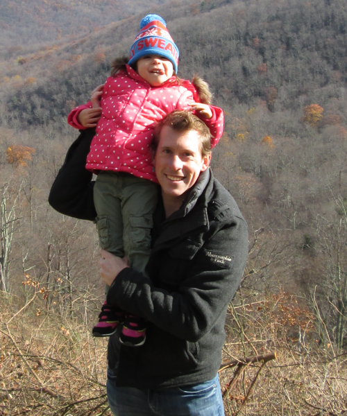 Picture of me with my daughter in the mountains